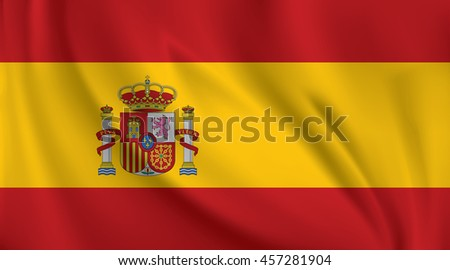 3D Waving Flag of Spain
