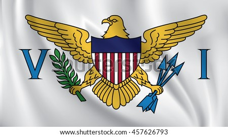 3D Waving Flag of United States Virgin Islands