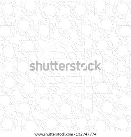 3d white arabic pattern. Vector EPS10 - stock vector