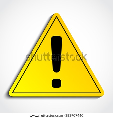 Warning Icon Stock Illustration 90423931 - Shutterstock