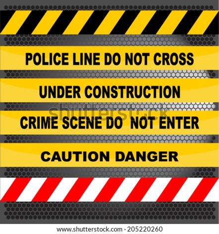 danger tapes - stock vector