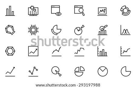 Data Analytics Line Vector Icons 1  - stock vector