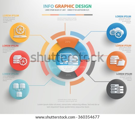 Database and network info graphic design,vector