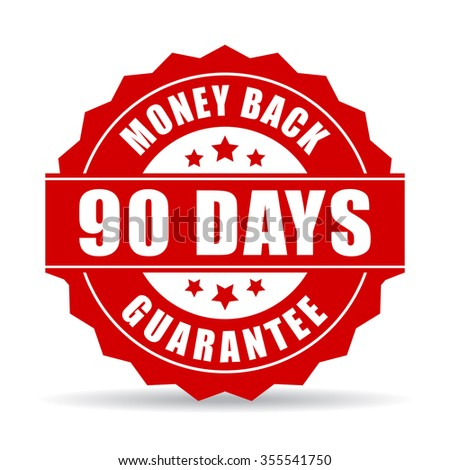 90 days money back guarantee icon - stock vector