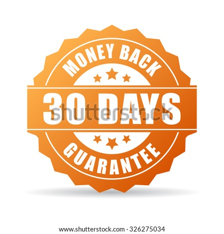 30 days money back guarantee icon on white background - stock vector