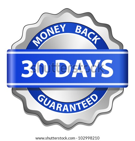 30 days money back guarantee label. Vector illustration - stock vector