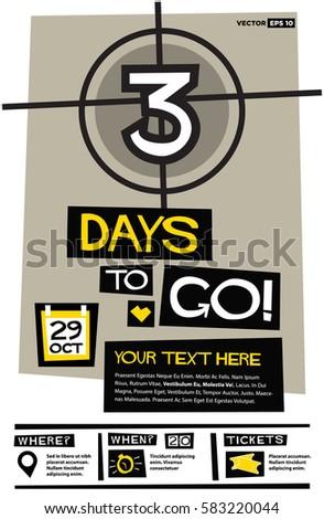 5 Days Go Flat Style Vector Stock Vector 583183726 ...