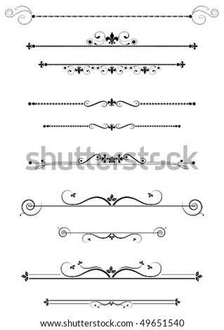Decorative dividers and accents set, vector illustration - stock vector