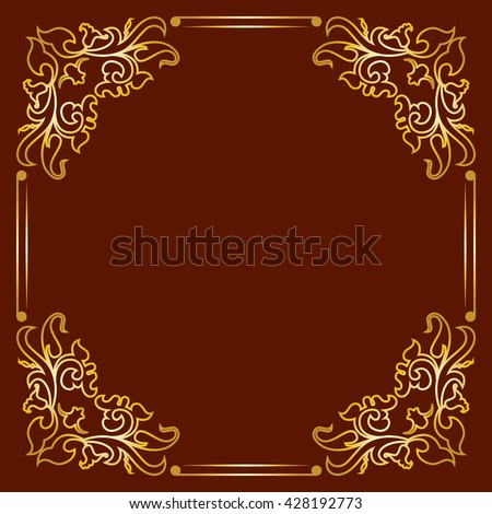 Decorative frame for photo , notebook , invitations , labels