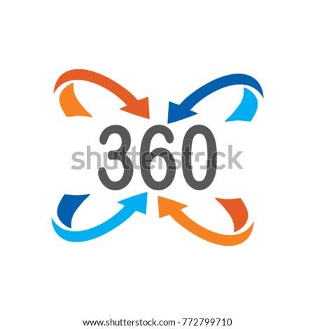 360 Degree Symbol Stock Vector 772799710 Shutterstock