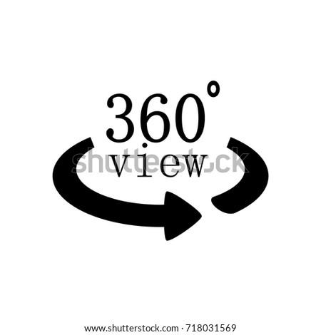 360 Degrees Symbol Stock Vector Royalty Free 718031569 Shutterstock
