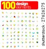 100 Design elements !!! - stock vector