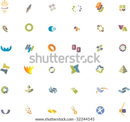 36 Design elements - stock vector