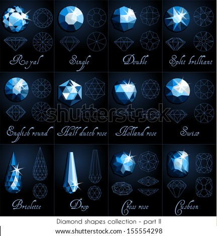 Diamond shapes collection - part 2 (eps10) - stock vector