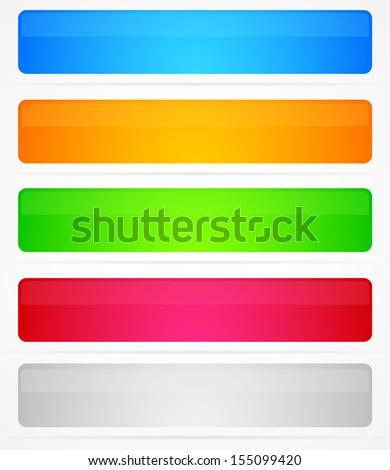 5 different modern flat banner templates - stock vector