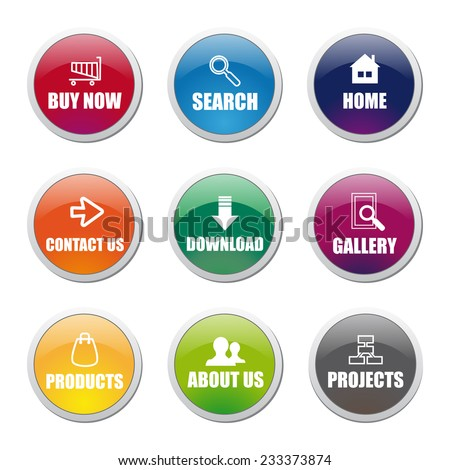 Different Vector Button Set - stock vector