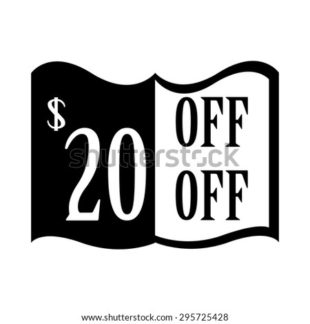 20% discount price sign.20% Off. 20 dollar percent discounted. Discount badge. Sticker. Vector - stock vector