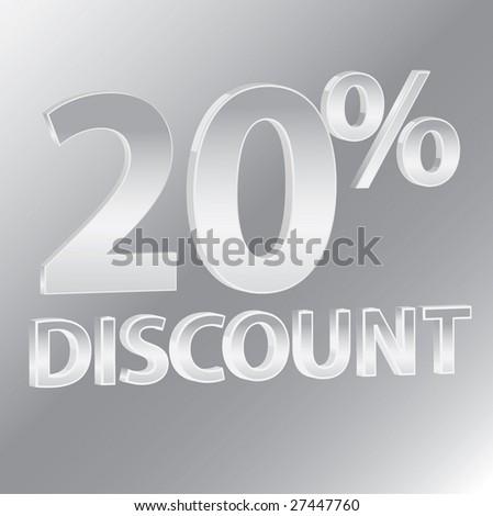 20% Discounts / vector - stock vector
