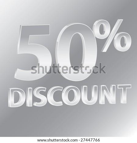 50% Discounts / vector - stock vector