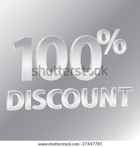 100% Discounts / vector - stock vector