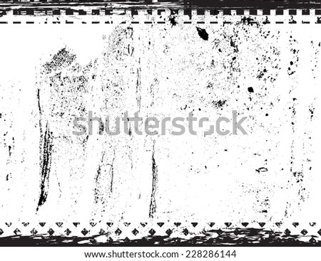 Distress Frame . Grunge Frame with Grunge Black and White Distress Texture . Scratch Texture . Dirty Texture . Wall Background . Vector Illustration.  - stock vector