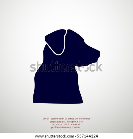 dog head silhouette stock images, royalty-free images & vectors