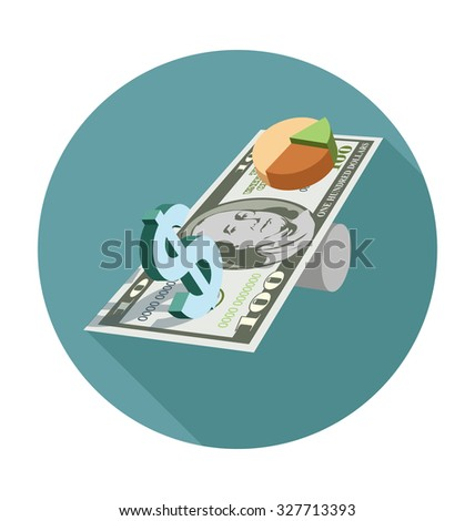 Dollar Sign Colored Vector Illustration