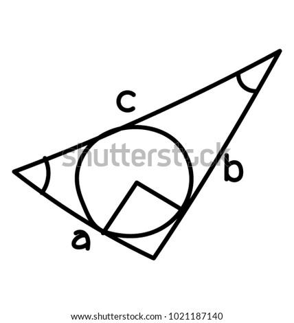 Doodle Triangle Scalene Triangle Stock Vector 1021187140 - Shutterstock