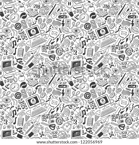 doodles -  seamless pattern
