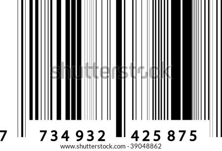 13 EAN - barcode - stock vector