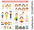 Early childhood development. Elements for infographic and design - stock photo
