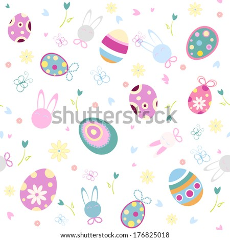 Easter seamless pattern, vector
