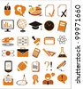 30 education icons, signs, vector illustration set - stock photo