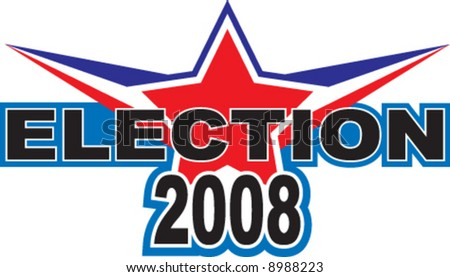 2008 election campaign logo illustration - stock vector