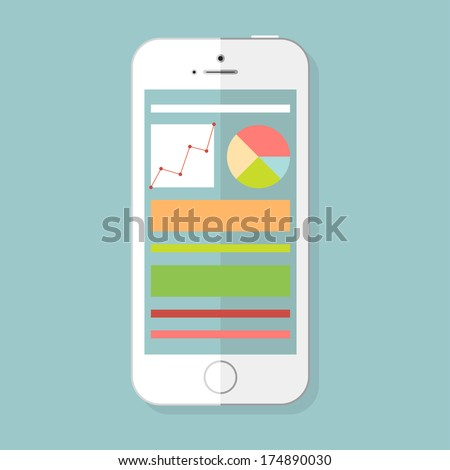 Electronic Device Icons Phone Icon - stock vector