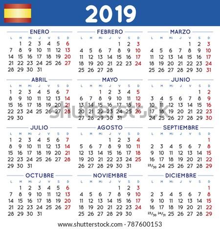 Calendar Template In Spanish