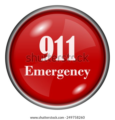 911 Emergency icon. Internet button on white background.  - stock vector
