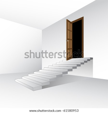 empty room  , vector - stock vector