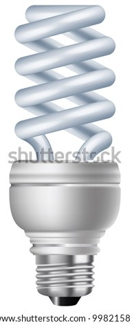 Energy saving light bulb vector. - stock vector