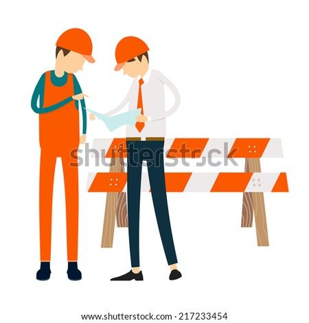 Engineers people meeting connection at work business - stock vector