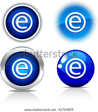 Enternet beautiful buttons. Vector illustration.