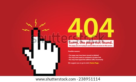 404 error. Page not found. Vector illustration. - stock vector