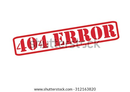 404 ERROR red Rubber Stamp Vector over a white background. - stock vector