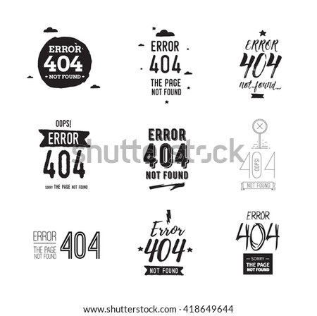 404 error web page. Background vector design. 404 page not found. Template with error 404 typography. Usable as t-shirt design - stock vector