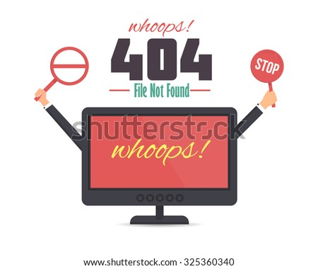 404 not found html template - sorry vector card flat design stock vector 413841019