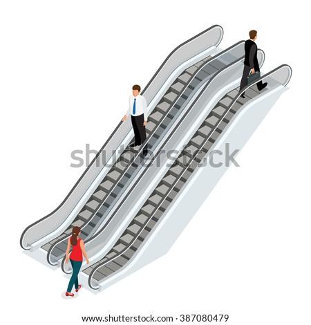 Escalator Architecture Stair Elevator Escalator Vertical Stock