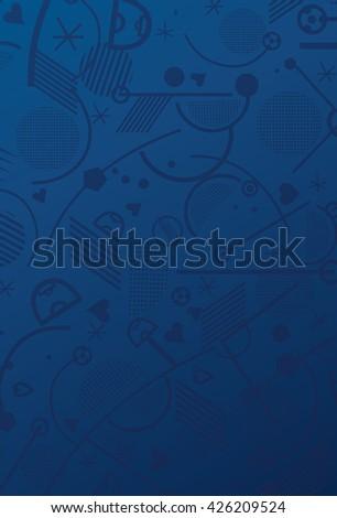 2016 EURO, European Championship Soccer 2016 wallpaper. Blue France Championship soccer background. Football, Championship Soccer 2016, Sport Soccer 2016 Championship Soccer Vector for Art, Print, Web - stock vector