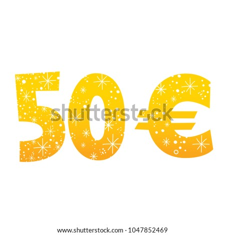 50 Euro Sign Icon Symbol Stock Vector Royalty Free 1047852469