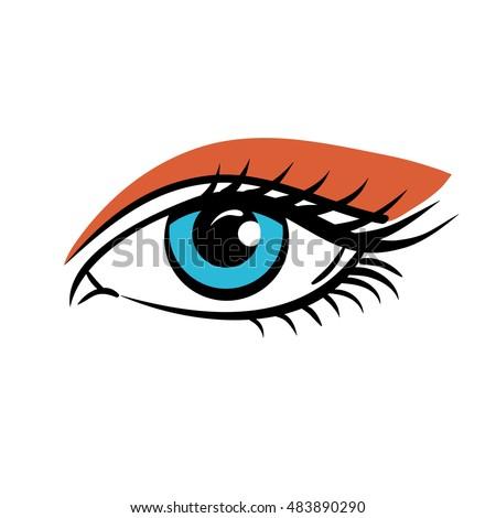 eye on white background eyes art stock vector 483890290 - shutterstock