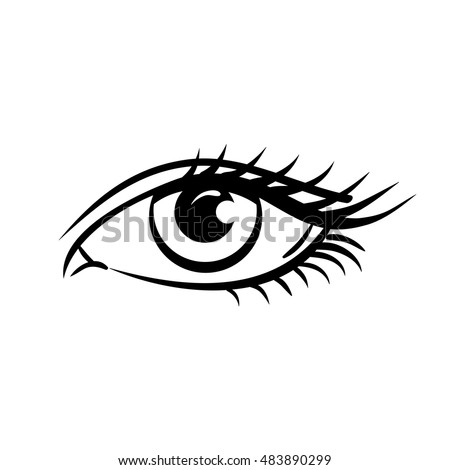 Eye on white background woman eye the eye logo eyes art human